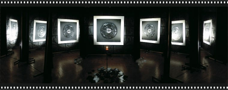 Installation, Irina Machitski's exhibition 'The Music of the Spheres'